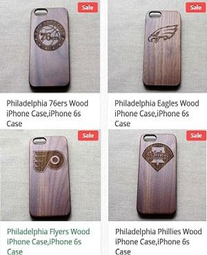 Wood Phone Case For philadelphia Sport Teams