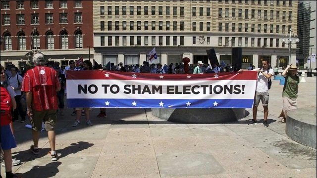 Stop Corruption! Rally Against Hillary Clinton's Nomination